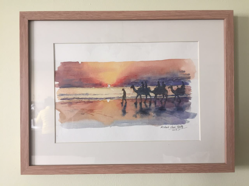 (CreativeWork) Cable Beach by Richard(Tiejun) Chao. watercolour. Shop online at Bluethumb.