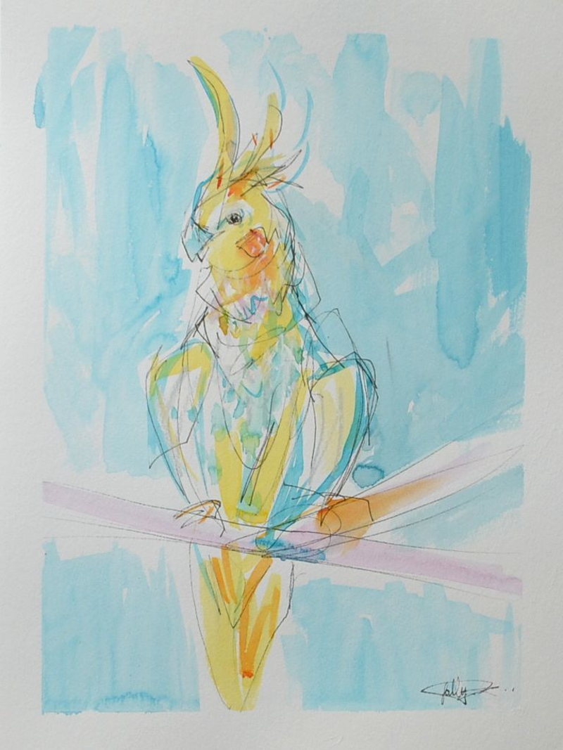 (CreativeWork) Queen  by Sally Perrett. Mixed Media. Shop online at Bluethumb.