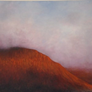 (CreativeWork) Mountain Odyssey by GEOFF WINCKLE. oil-painting. Shop online at Bluethumb.