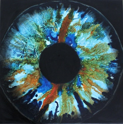 (CreativeWork) I See Said the Blind Man by Jenny Reddin. mixed-media. Shop online at Bluethumb.