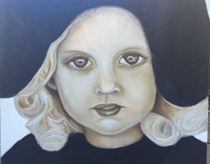 (CreativeWork) Kenz by Sandra Jule Cipriotti. oil-painting. Shop online at Bluethumb.