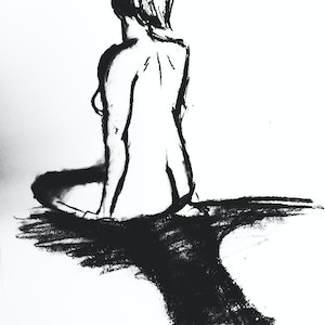(CreativeWork) Life in charcoal by Niia Duroux. drawing. Shop online at Bluethumb.