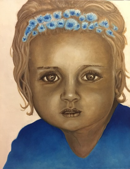 (CreativeWork) Jordy Jule by Sandra Jule Cipriotti. oil-painting. Shop online at Bluethumb.