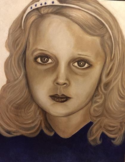(CreativeWork) Kenzi Rose by Sandra Jule Cipriotti. oil-painting. Shop online at Bluethumb.