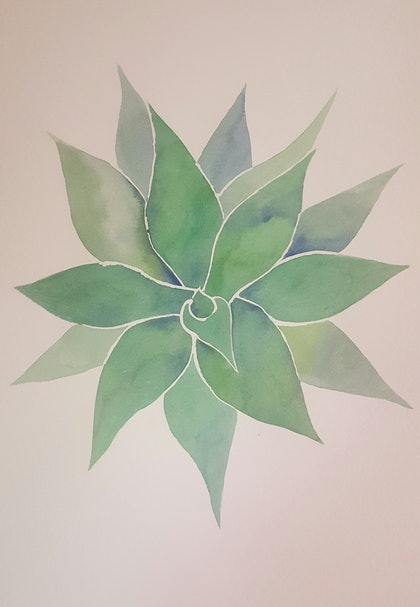 (CreativeWork) Rainforest soul by Amy Sabella. watercolour. Shop online at Bluethumb.