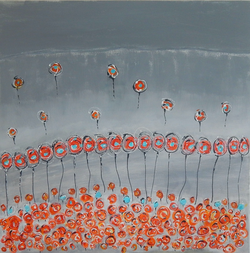 (CreativeWork) Where's the Party by natalie green. arcylic-painting. Shop online at Bluethumb.
