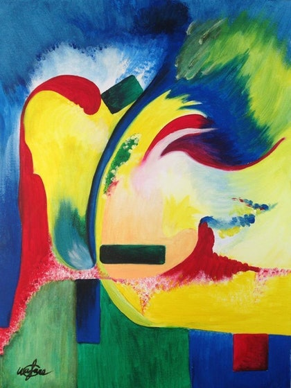 (CreativeWork) MANEUVER by Wafaa Gendy. arcylic-painting. Shop online at Bluethumb.
