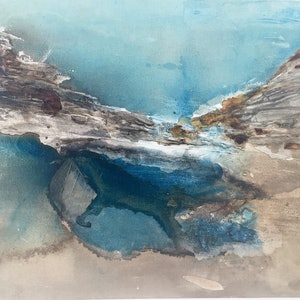 (CreativeWork) South Coast Rockpools by Kristi Thompson. mixed-media. Shop online at Bluethumb.