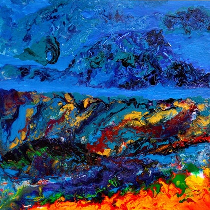(CreativeWork) The Deep Sea by Stefania Shevchenko. arcylic-painting. Shop online at Bluethumb.