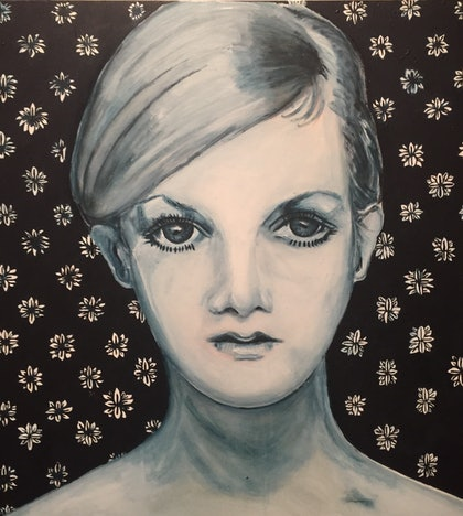 (CreativeWork) Twiggy revival  by Sandra Jule Cipriotti. arcylic-painting. Shop online at Bluethumb.