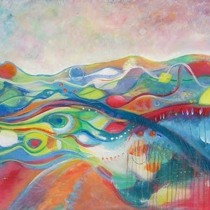 (CreativeWork) The journey by Jane Welsh. arcylic-painting. Shop online at Bluethumb.