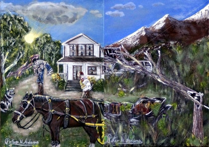 (CreativeWork) Yesteryear  by Peter Adams. print. Shop online at Bluethumb.