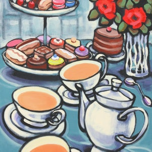 (CreativeWork) High Tea by Olga Kolesnik. arcylic-painting. Shop online at Bluethumb.