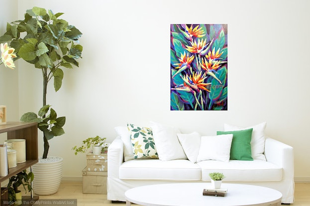 (CreativeWork) In Search of Paradise  - NATURE by Olga Kolesnik. Acrylic Paint. Shop online at Bluethumb.