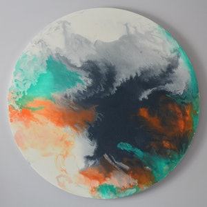 (CreativeWork) Tempest by Fox Kit and Cub. acrylic-painting. Shop online at Bluethumb.