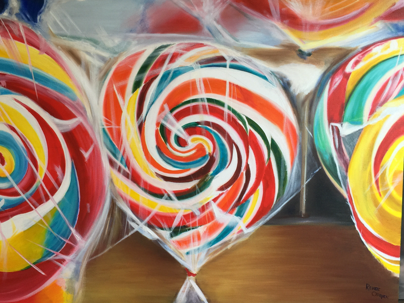 (CreativeWork) Hard Candy by Renee O'Brien. oil-painting. Shop online at Bluethumb.