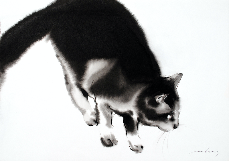 (CreativeWork) Cat Business by Soo Beng Lim. Drawings. Shop online at Bluethumb.