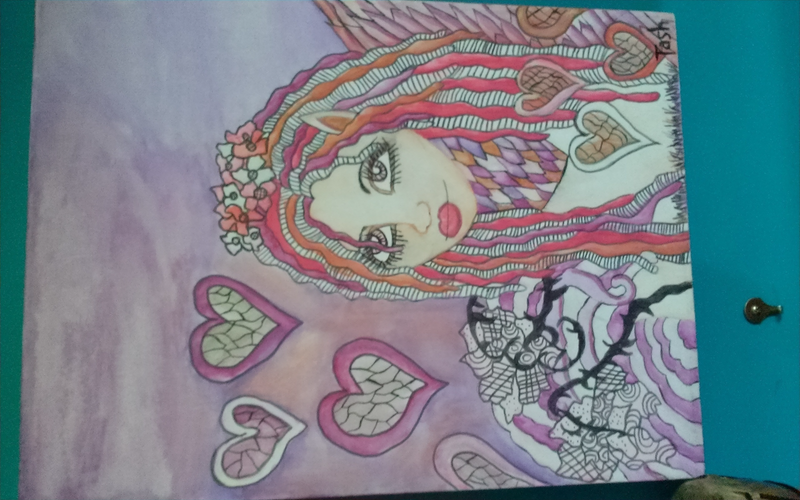 (CreativeWork) Queen of Hearts by Natasha Godfrey. watercolour. Shop online at Bluethumb.