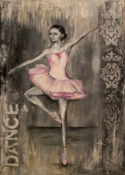 (CreativeWork) Pirouette by Jodie Groenveld. oil-painting. Shop online at Bluethumb.