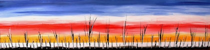 (CreativeWork) Australian Desert Sky by Amy Bloemendaal. arcylic-painting. Shop online at Bluethumb.