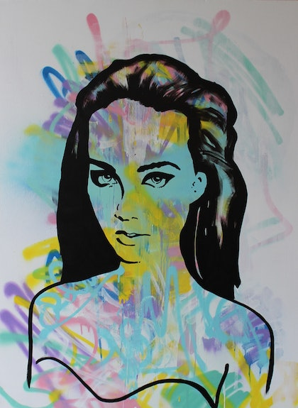 (CreativeWork) Jasmin by Adam Craemer. mixed-media. Shop online at Bluethumb.