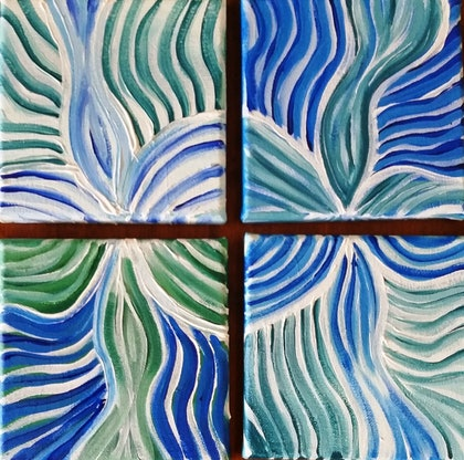 (CreativeWork) Carving the Ocean by Amy Bloemendaal. arcylic-painting. Shop online at Bluethumb.