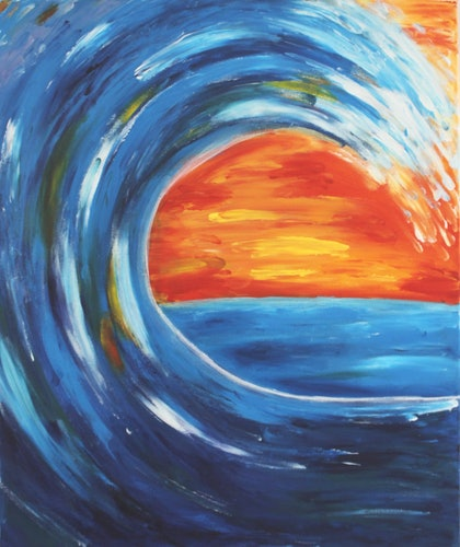 (CreativeWork) The Jewels of a Wave by Amy Bloemendaal. arcylic-painting. Shop online at Bluethumb.