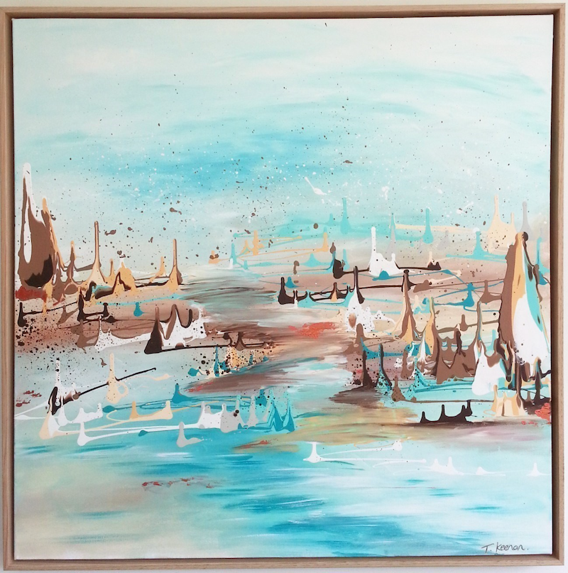 (CreativeWork) Cool, Calm and Collected by Tanya Keenan. Acrylic Paint. Shop online at Bluethumb.