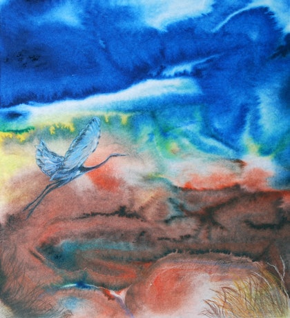 (CreativeWork) Come Fly With Me by Marty Foster. mixed-media. Shop online at Bluethumb.