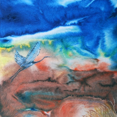 (CreativeWork) Come Fly With Me by Marty Foster. Mixed Media. Shop online at Bluethumb.