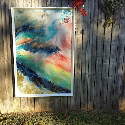 (CreativeWork) Inspire by Leigh Fagerlund-Quin. resin. Shop online at Bluethumb.