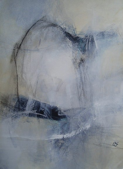 (CreativeWork) Weightless by Christine Scurr. arcylic-painting. Shop online at Bluethumb.