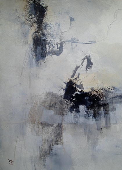 (CreativeWork) Synchronicity by Christine Scurr. arcylic-painting. Shop online at Bluethumb.