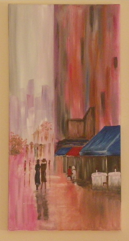 (CreativeWork) 'Paris in Winter' by Donella Brown. arcylic-painting. Shop online at Bluethumb.