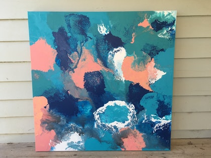 (CreativeWork) Coastal reef by Erica Ruby. arcylic-painting. Shop online at Bluethumb.