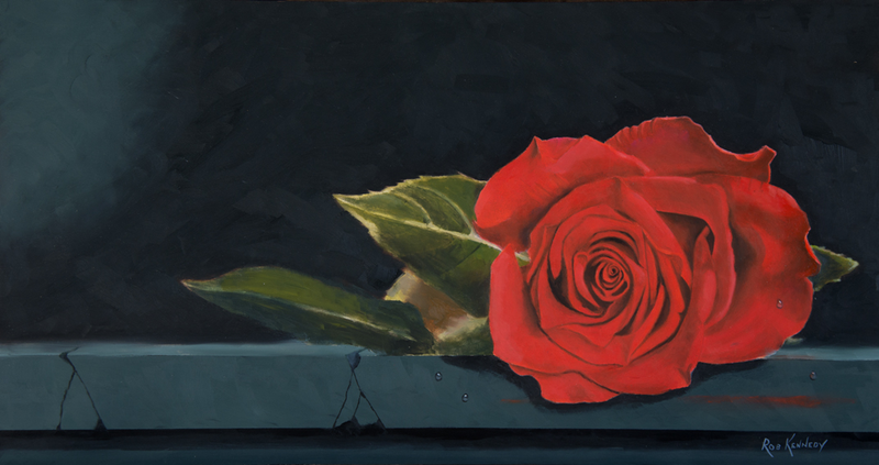 Single Red Rose By Rob Kennedy Paintings For Sale Bluethumb