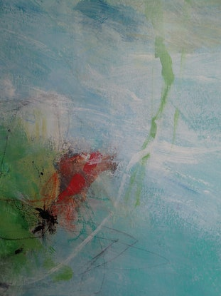(CreativeWork) Listen to the sea by Christine Scurr. Acrylic Paint. Shop online at Bluethumb.