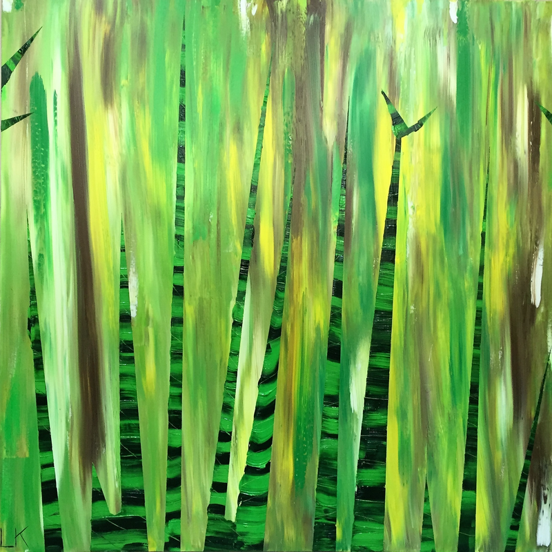 (CreativeWork) Bamboo 1.0 by Leith Kennedy. arcylic-painting. Shop online at Bluethumb.