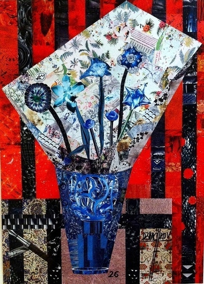 (CreativeWork) FLEURES BLEUES by Martin DZHACHKOV. other-media. Shop online at Bluethumb.