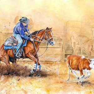 (CreativeWork) The Roper by Matthew Williams. watercolour. Shop online at Bluethumb.