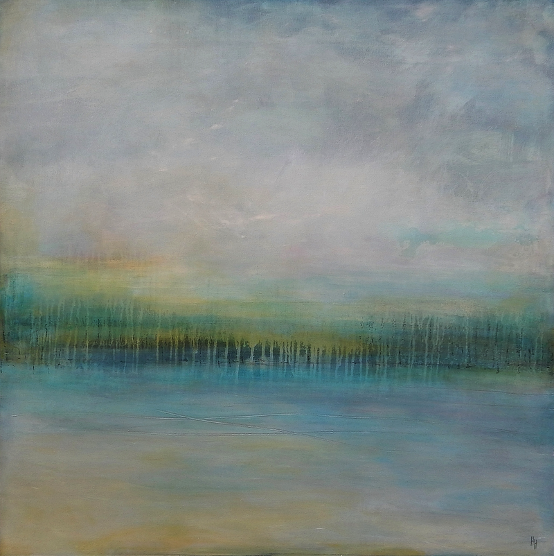 (CreativeWork) Endless Sea by helene hardy. acrylic-painting. Shop online at Bluethumb.