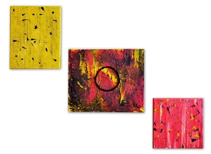 (CreativeWork) Bright Colours! by Sonia Sharjeel. mixed-media. Shop online at Bluethumb.