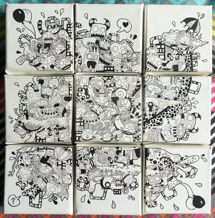 (CreativeWork) 9 Piece Linework  by Georgie Green. other-media. Shop online at Bluethumb.