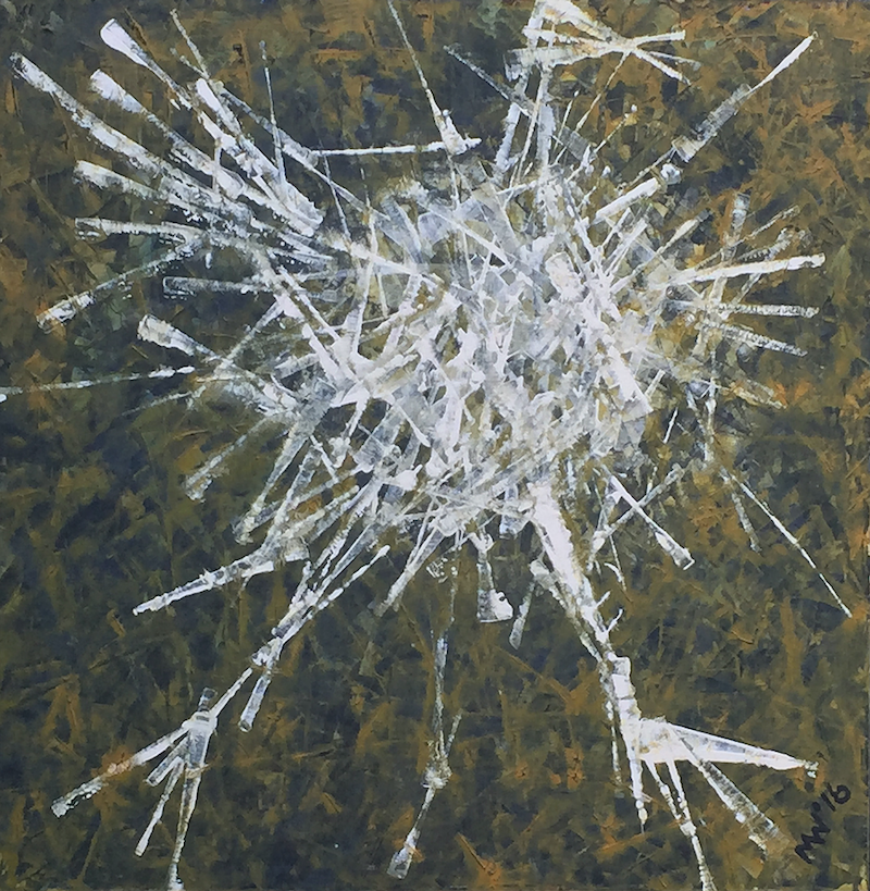 (CreativeWork) Breaking the Ice by Mitchell Ward. Acrylic Paint. Shop online at Bluethumb.