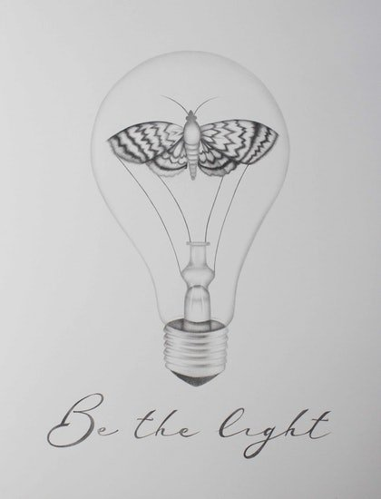 (CreativeWork) Be the Light  by Mikhaela Davis. drawing. Shop online at Bluethumb.