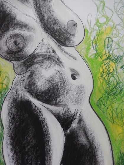 (CreativeWork) Exotic Sensuality by Kathryn Pentecost. drawing. Shop online at Bluethumb.