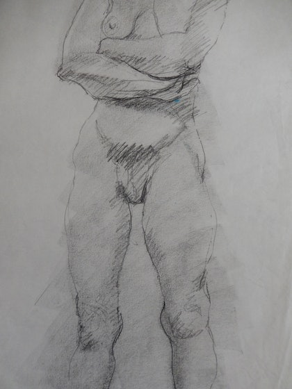 (CreativeWork) Standing by Kathryn Pentecost. drawing. Shop online at Bluethumb.