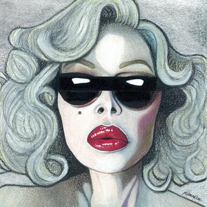 (CreativeWork) Deeper - A Portrait of Amanda Lepore by Tom Christophersen. mixed-media. Shop online at Bluethumb.