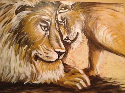 (CreativeWork) Loyalty by Kim Crijns. arcylic-painting. Shop online at Bluethumb.
