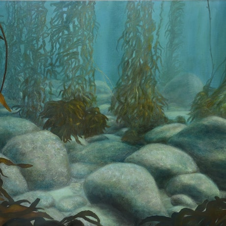(CreativeWork) Gathering Place by Catherine Stringer. Oil Paint. Shop online at Bluethumb.